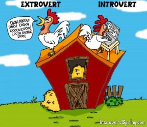 Extrovert vs. Introvert Cartoon