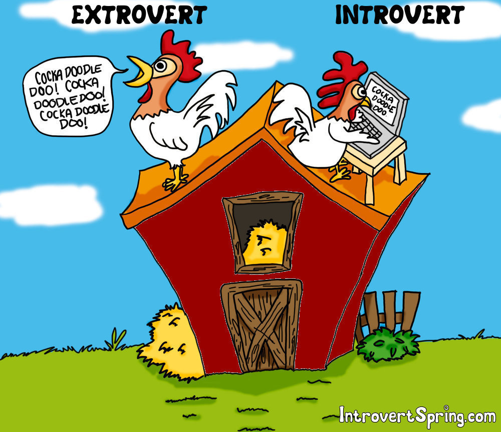 extravert vs introvert