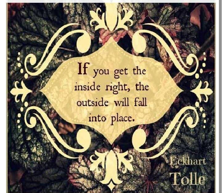 Eckhart Tolle Quote-Get the inside right