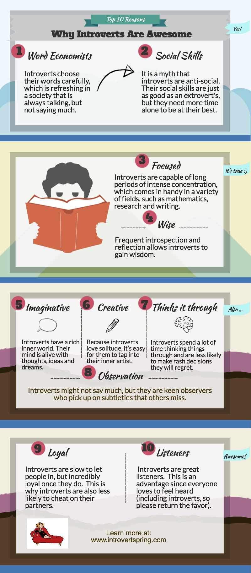Introverts Are Awesome Infographic
