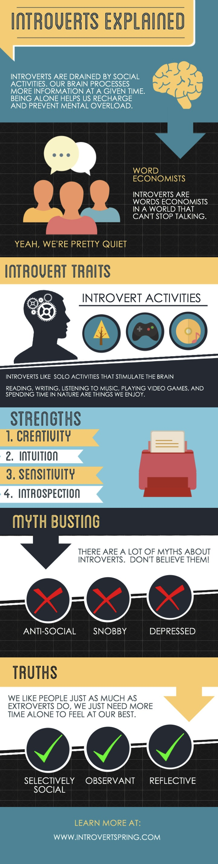 Introverts Explained Infographic