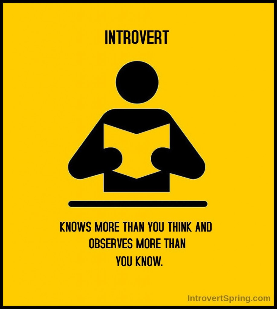 introvert knows more than you think and observes more than you know