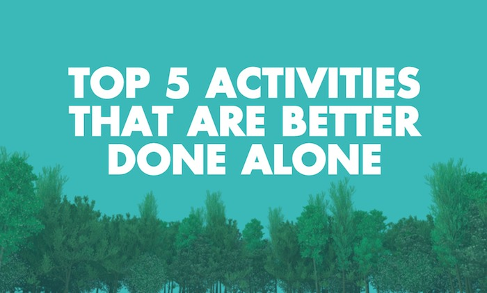 activities done alone introverts