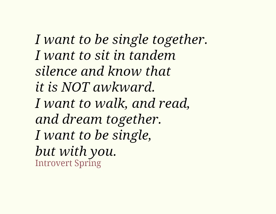 introvert single together