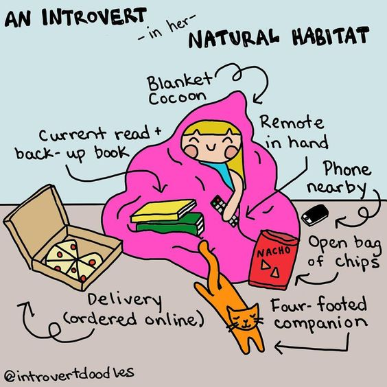 introvert natural habit @introvertdoodles