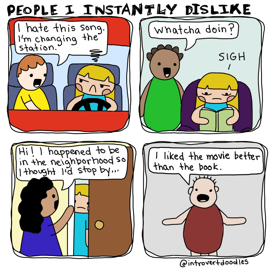 introvert doodles funny