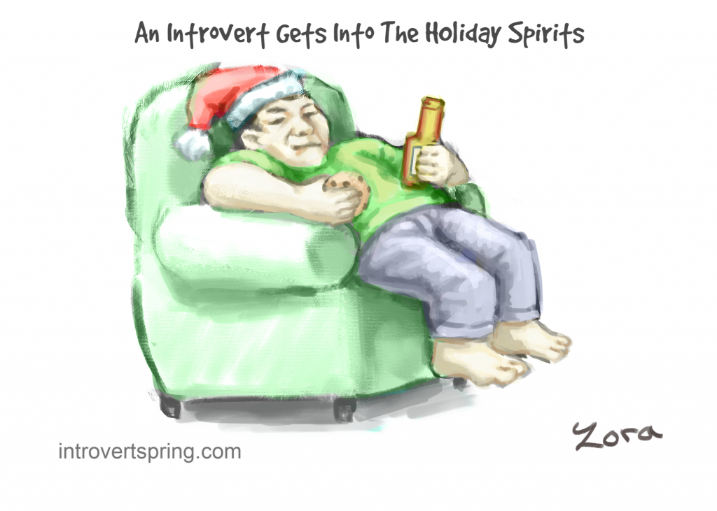 introvert comic holiday spirits