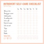 Introvert Self-Care Checklist